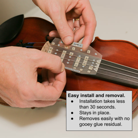 Fantastic violin finger guide installation