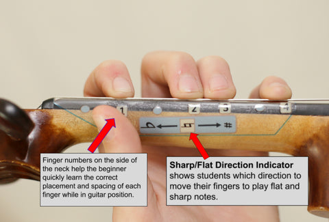 Fantastic Finger Guide All Notes Sharp - Flat Direction Indicator Side 1