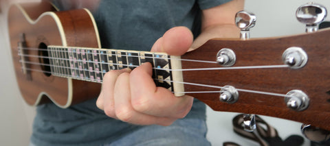 Fantastic Finger Guide for Ukulele on a instrument