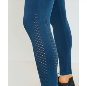 Perforated Cascade Wrap Seamless Highwaist Leggings