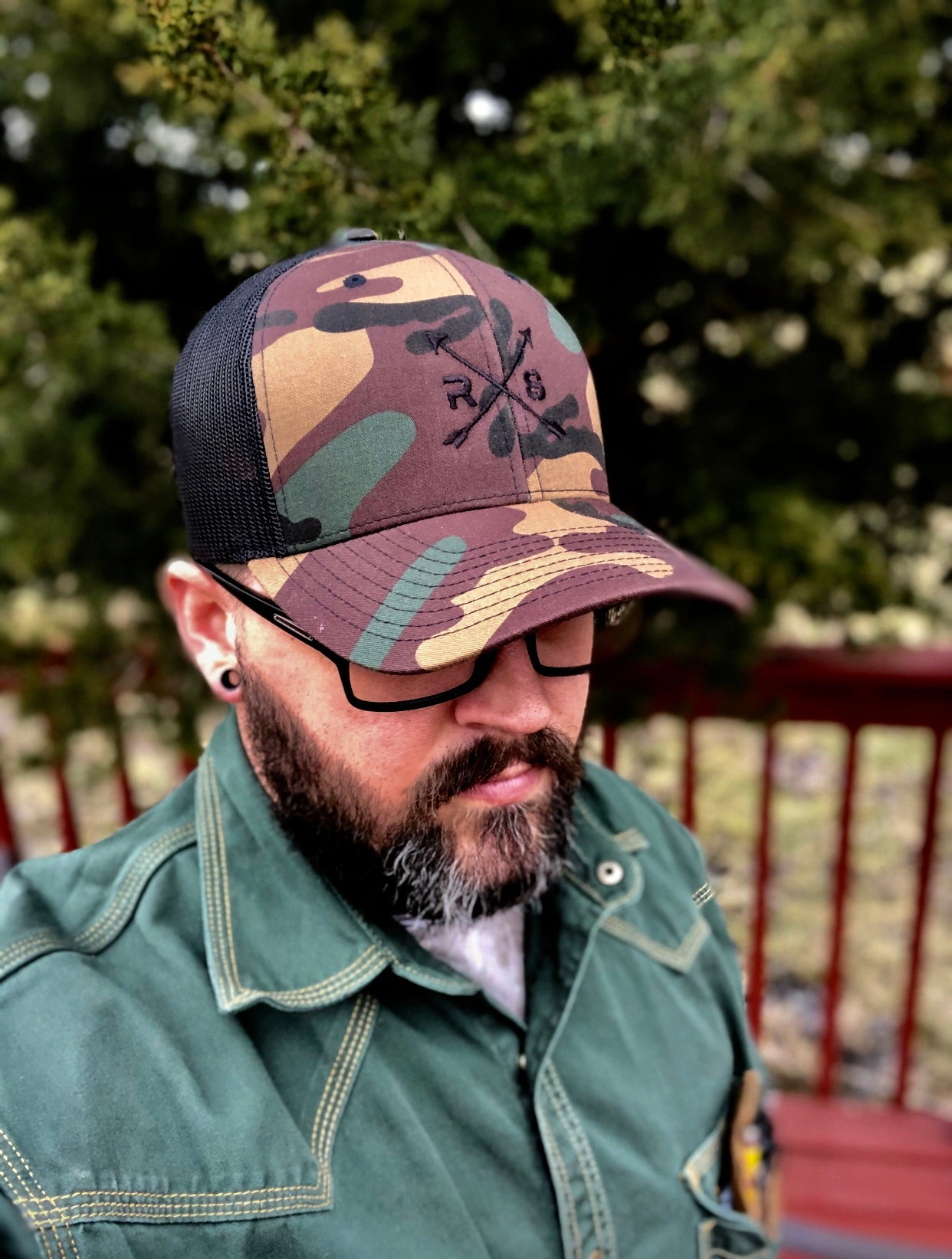 Camo Black Mesh Snap Back