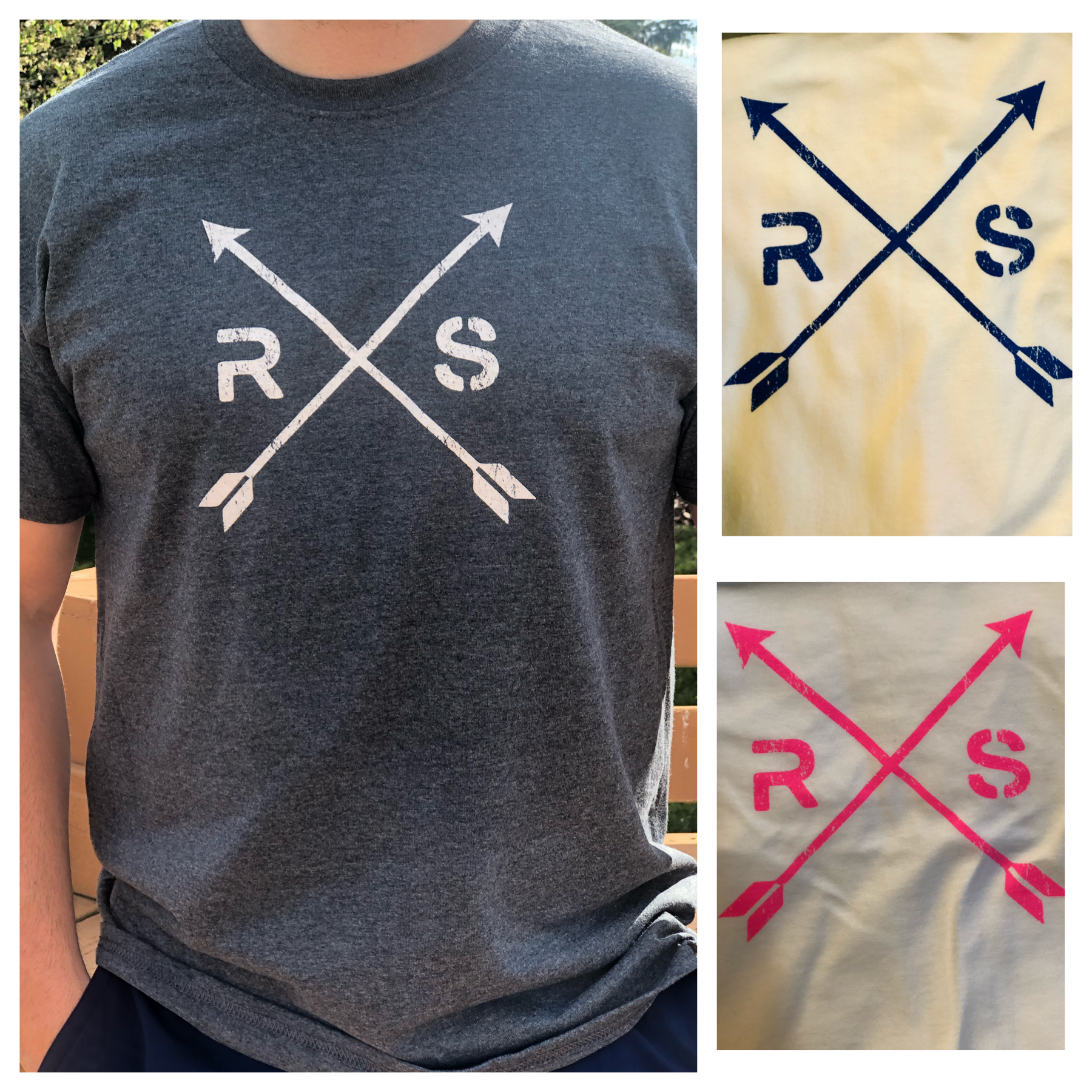 Distressed Arrow Tee. *Clearance*