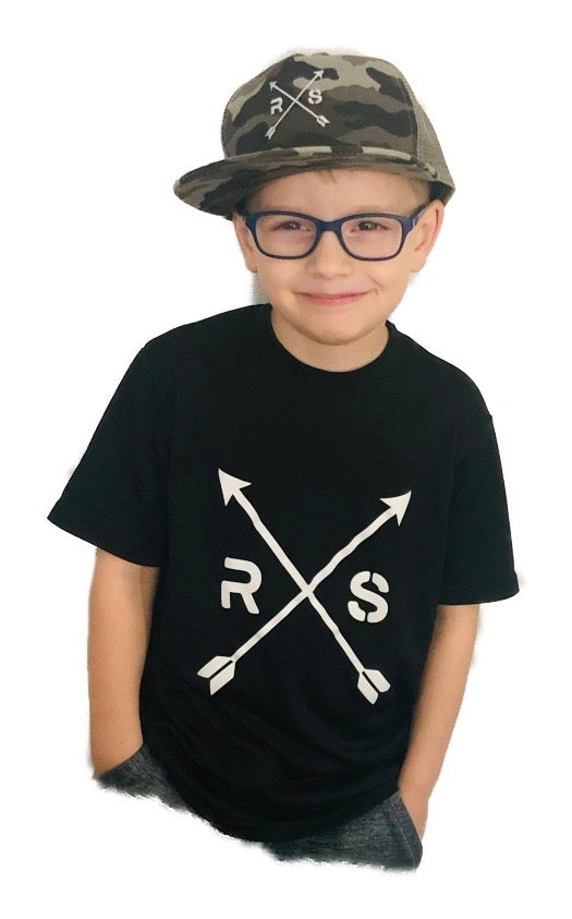 Youth Black  Dri-fit Arrow Tee