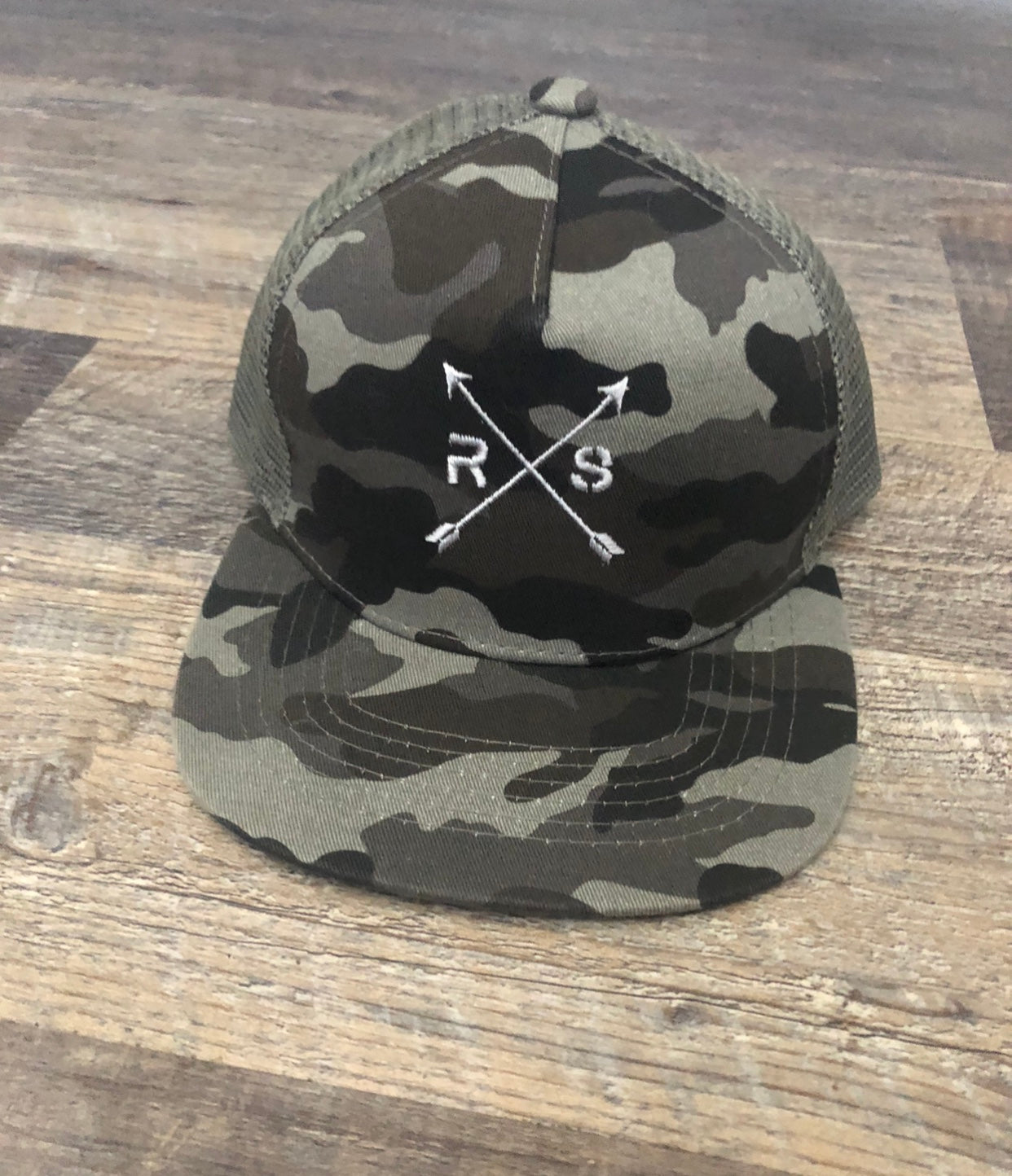 Youth Charcoal Camo Hat