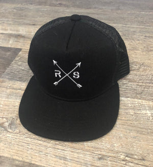 Youth Black Trucker Hat