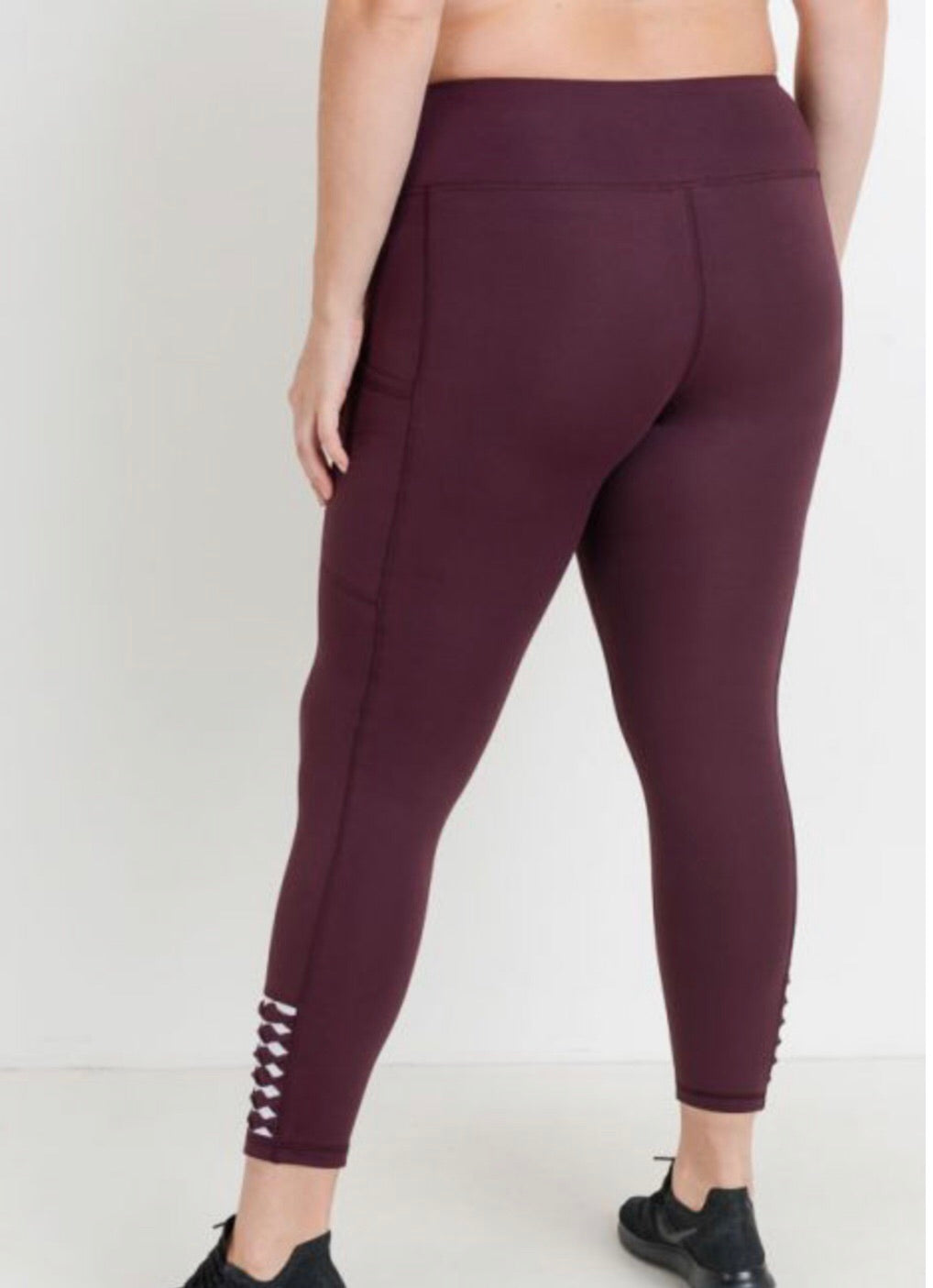 PLUS High waist Origami Full Leggings