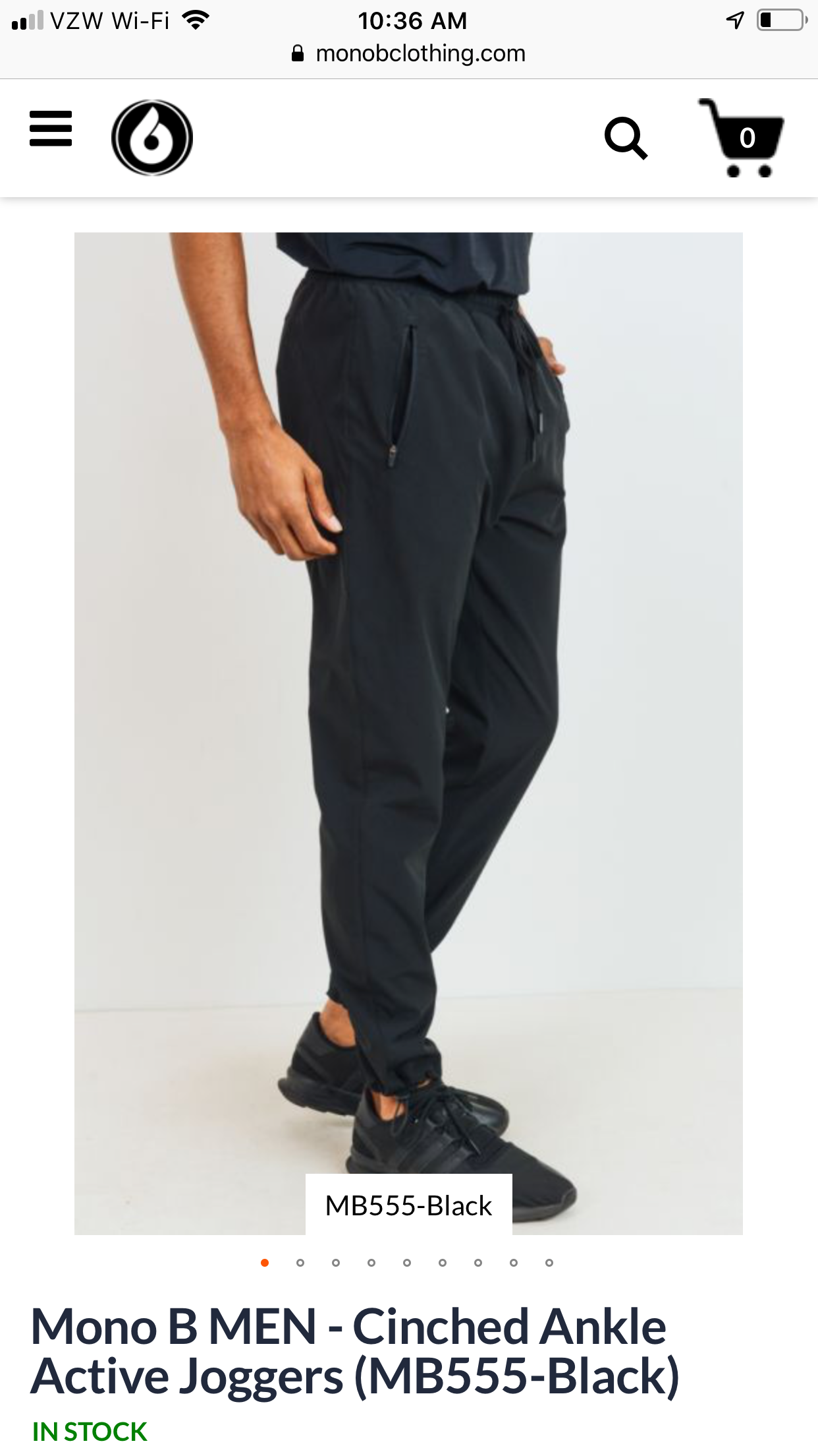 Men's Cinched Ankle Active Joggers (MB555-Black