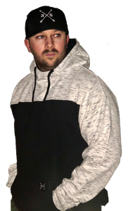 Color Block Fleece Hooded Pullover