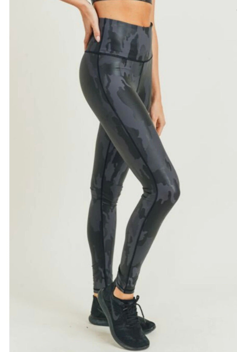 Camo Foil High Waist Legging
