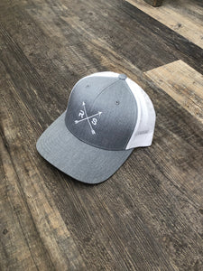 Grey and White Mesh Snap Back