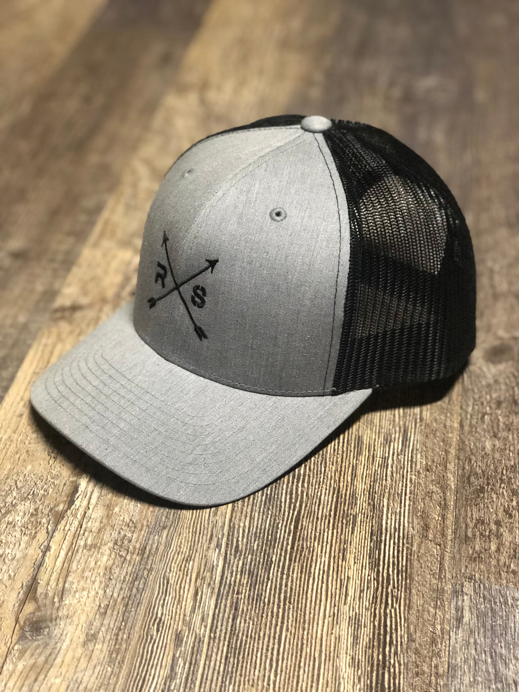 Grey and Black Mesh Snap Back