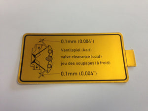 (New) 911/914 Valve Clearance Decal - 1965-94