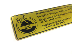 (NOS) 911 T Timing Decal - 1969-73