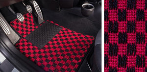 (New) #101 Black and Red Chequer Mats - Two Piece or Four Piece