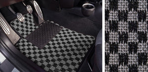 (New) #103 Black and Grey Chequer Mats - Two Piece or Four Piece