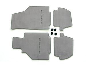 (New) 996 Cabriolet/Coupe Set of Four Graphite Grey Floor Mats - 1998-2005