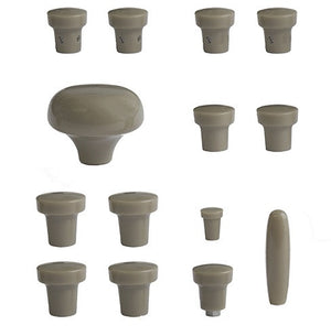 (New) 356 A Gray Dash Knob Set - 1955-59