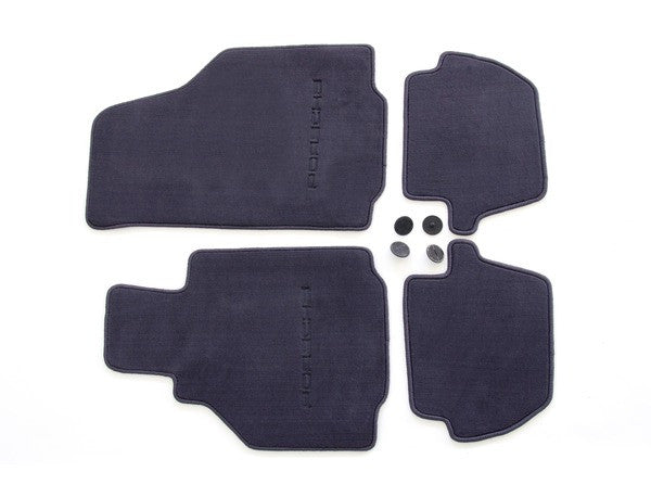 (New) 996 Cabriolet/Coupe Set of Four Metropol Blue Floor Mats - 1998-2005