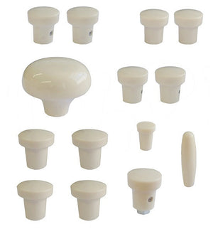 (New) 356 A Dash Ivory Knob Set - 1955-59
