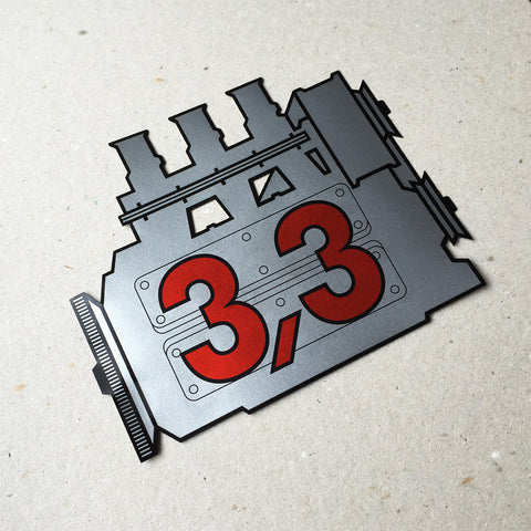(New) 911 Rear Window 3.3L Engine Decal
