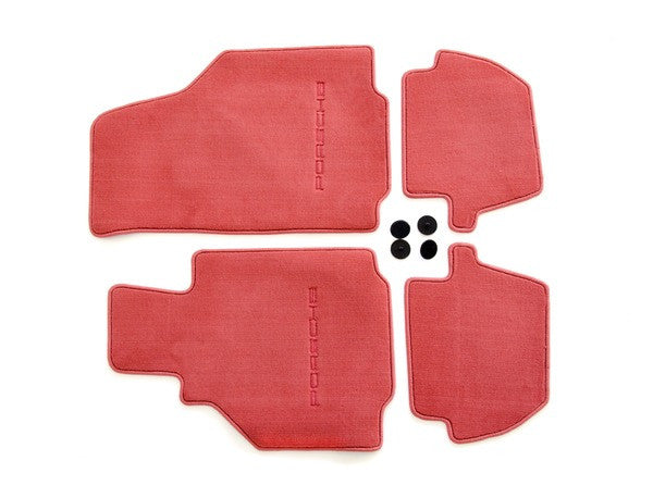(New) 996 Cabriolet/Coupe Set of Four Boxster Red Floor Mats - 1998-2005