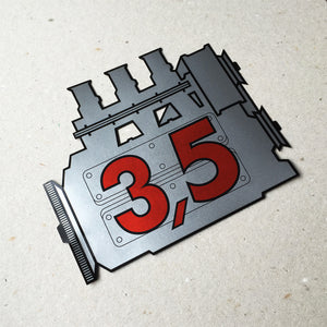 (New) 911 Rear Window 3.5L Engine Decal