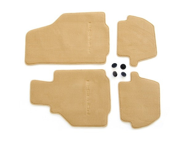 (New) 996 Cabriolet/Coupe Set of Four Cinnamon Brown Floor Mats - 1998-2005