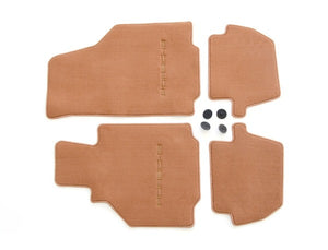 (New) 996 Cabriolet/Coupe Set of Four Brown Floor Mats - 1998-2005