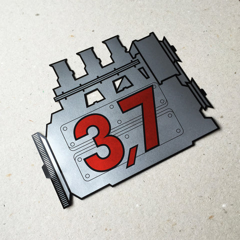(New) 911 Rear Window 3.7L Engine Decal