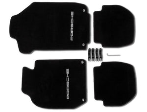 (New) 911 Coupe Set of Four LHD Black Floor Mats - 1983-89