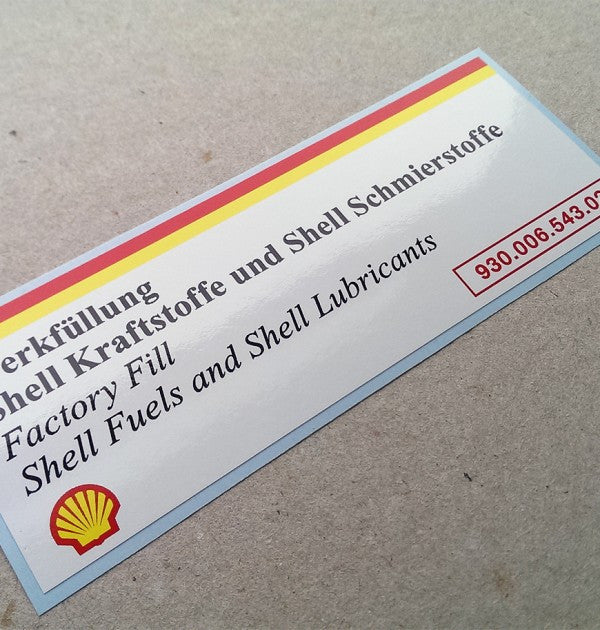 (New) 993/928 Shell Air Cleaner Decal - 1994-98