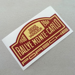 (New) 911/912 Rallye Monte-Carlo Porsche Winner Window Decal - 1968