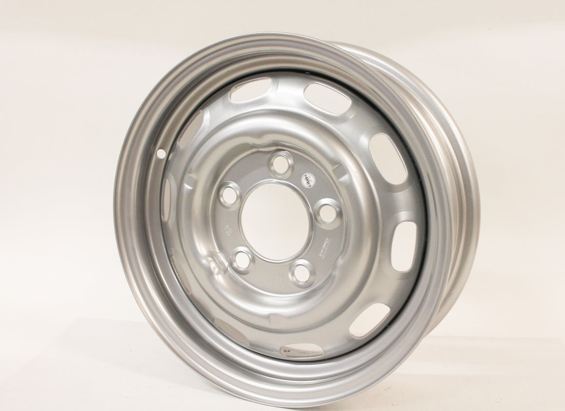 (New) 356/911/912 5.5jx15 Disc Brake Steel Wheel Silver Painted - 1964-67