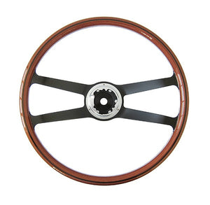 (New) 911/912 Wood and Aluminum 420mm VDM Steering Wheel - 1964-65