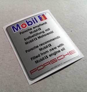 (New) 993 Silver Mobil Air Cleaner Decal - 1994-98