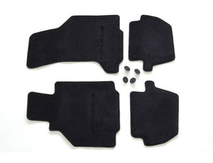 (New) 996 Cabriolet/Targa Set of Four Black Floor Mats - 2002-05