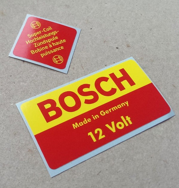(New) 911/912/914 12v Bosch Decal Set - 1966-76