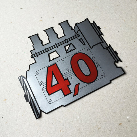 (New) 911 Rear Window 4.0L Engine Decal