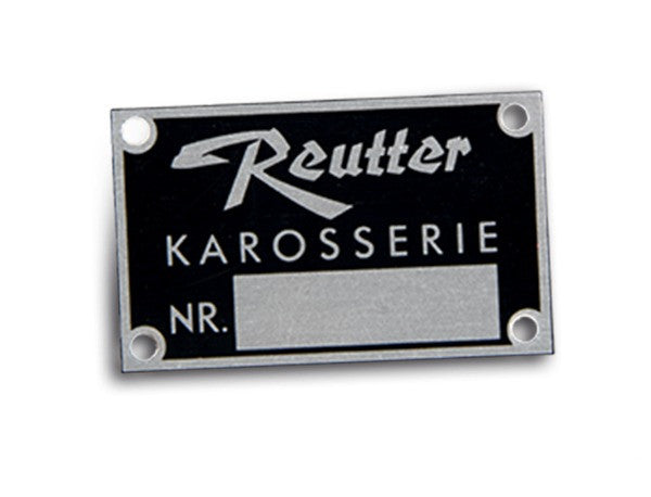 (New) 356 Genuine Reutter Karosserie Badge - 1950-65
