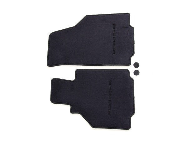(New) 986 Boxster Set of Two Black Floor Mats - 1997-2004