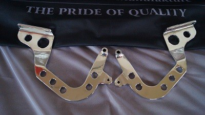 (New) 964/993 Pair of Aluminum Light Weight Engine Lid Hinges - 1989-98