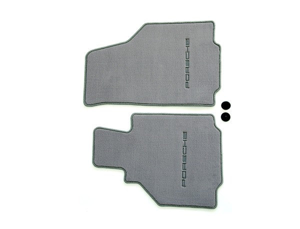 (New) 986 Boxster Set of Two Graphite Grey Floor Mats - 1997-2004