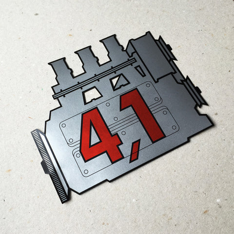 (New) 911 Rear Window 4.1L Engine Decal