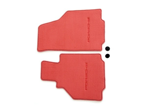 (New) 986 Boxster Set of Two Boxster Red Floor Mats - 1997-2004