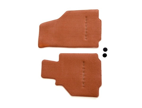 (New) 986 Boxster Set of Two Cinnamon Brown Floor Mats - 1997-2004