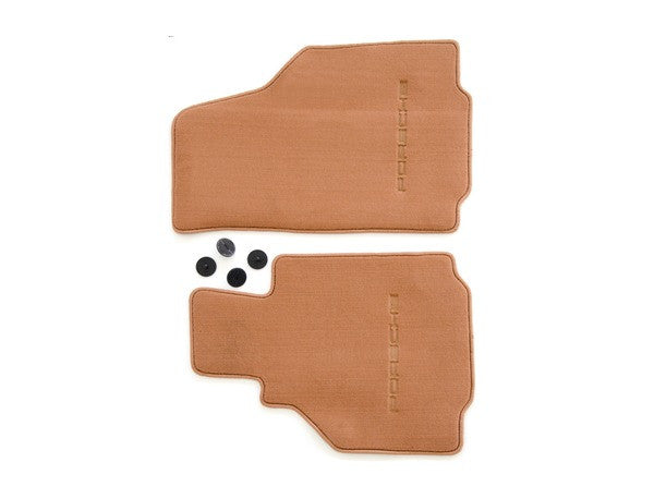 (New) 986 Boxster Set of Two Brown Floor Mats - 1997-2004