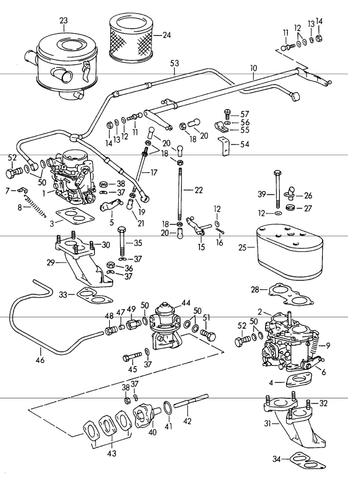 porsche 356 engine and transmission page 3 aase s porsche new 356 912 throttle linkage 1950 69