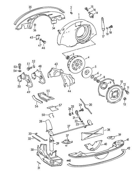 (New) 356 Engine Compartment Seal