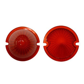 (New) 356 Pre-A Front 'Pointy' Red Beehive Turn Signal Lens - 1950-52