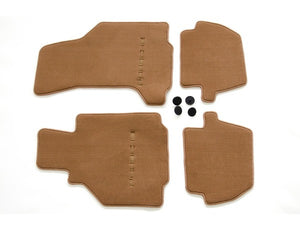(New) 996 Cabriolet/Targa Set of Four Brown Floor Mats - 2002-05